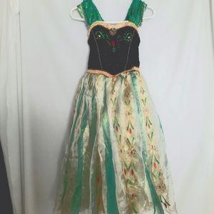 Frozen 2 Princess Anna Dress Costume Disney Girls